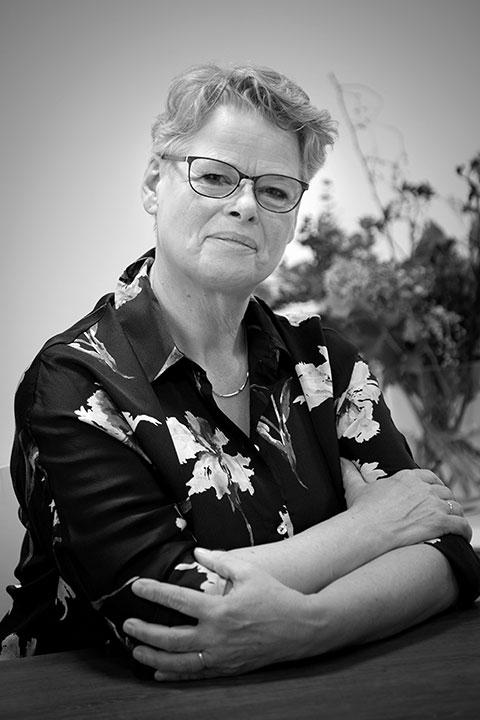 een van de verloskundigen Christa Stekelenburg